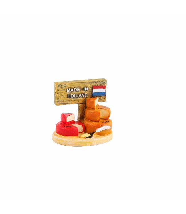 6 stuks Miniatuur 3D kaas Holland 5 cm