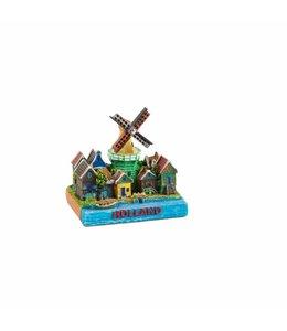 6 stuks Miniatuur 3D dorpstafereel Holland 5 cm