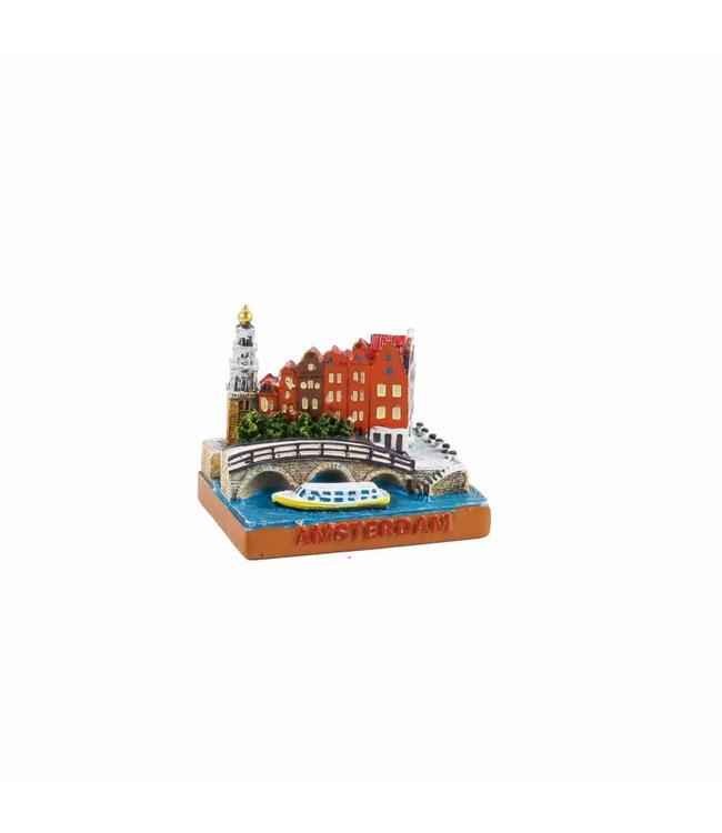 6 stuks Miniatuur 3D Papeneiland Amsterdam 5 cm