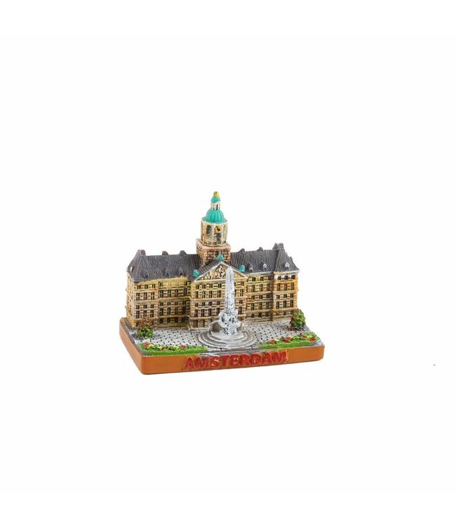 6 stuks niatuur 3D Damplein Amsterdam 5 cm