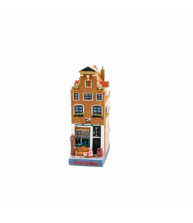 Huisje antiekwinkel de Gekroonde Raep 12 cm