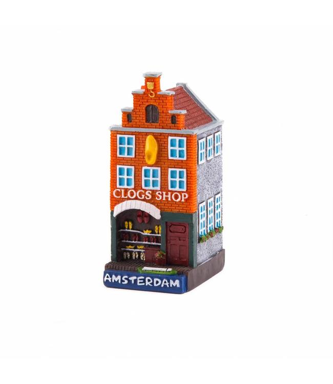 4 stuks polystone huisje Clog shop Amsterdam