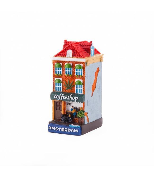 4 stuks polystone huisje Coffeeshop Amsterdam