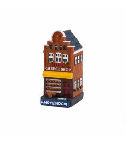 4 stuks polystone huisje Cheese shop Amsterdam