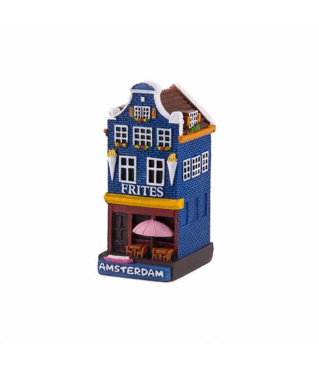 4 stuks polystone huisje Frites shop Amsterdam