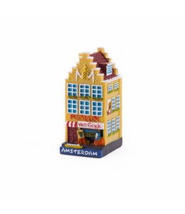 4 stuks polystone huisje van Gogh Amsterdam