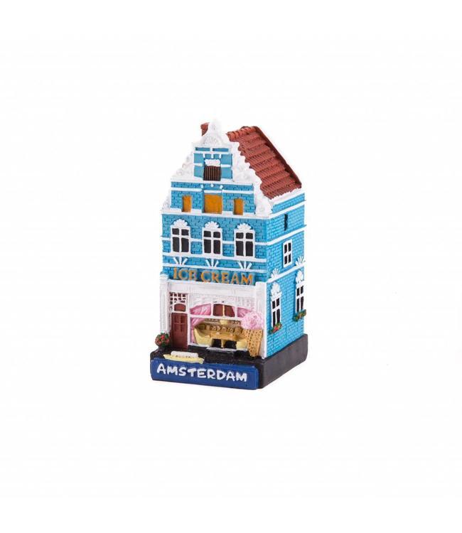 4 stuks polystone huisje Ice cream shop Amsterdam