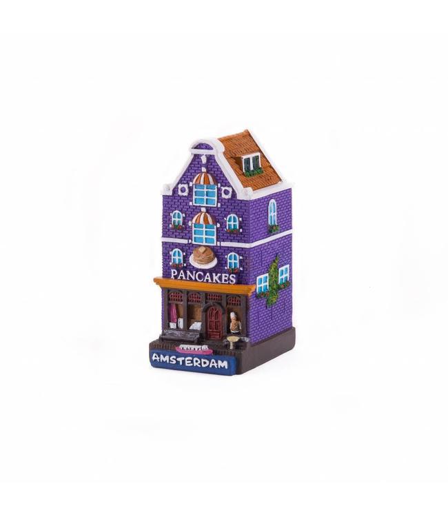 4 stuks polystone huisje Pancakes Amsterdam