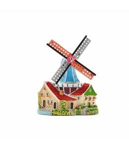 8 stuks Magneet stellingmolen huis met luiken