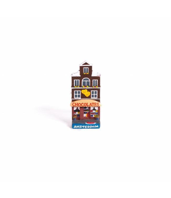 12 stuks Magneet 2D huis chocolates