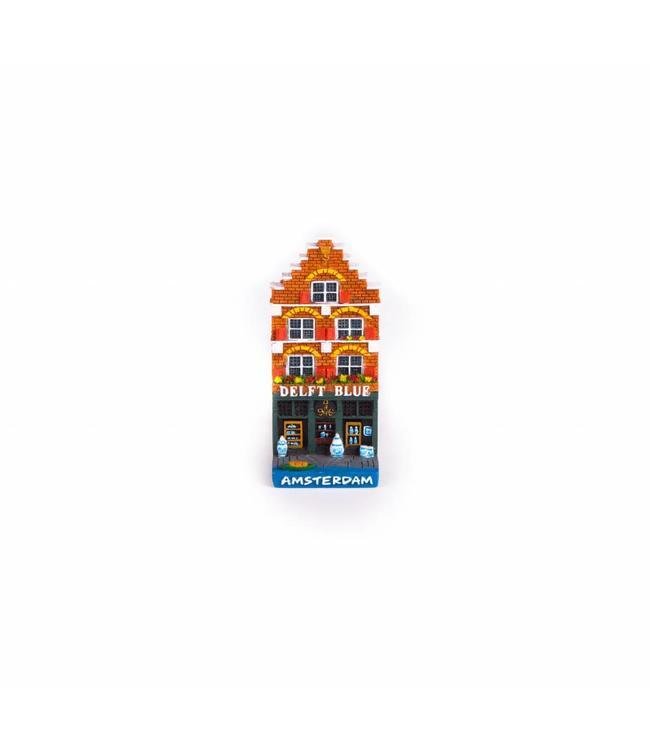 12 stuks Magneet 2D huis delftblue shop
