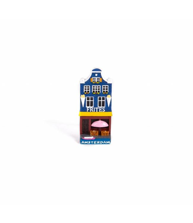 12 stuks Magneet 2D huis frites