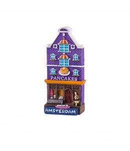 12 stuks  magneet polystone huisje Pancakes Amsterdam