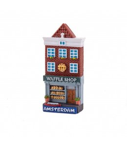 12 stuks magneet polystone huisje Waffle shop Amsterdam