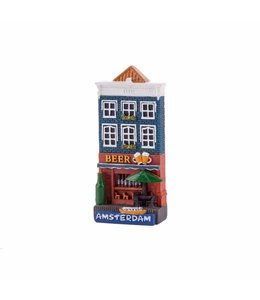 12 stuks magneet polystone huisje Beer shop Amsterdam