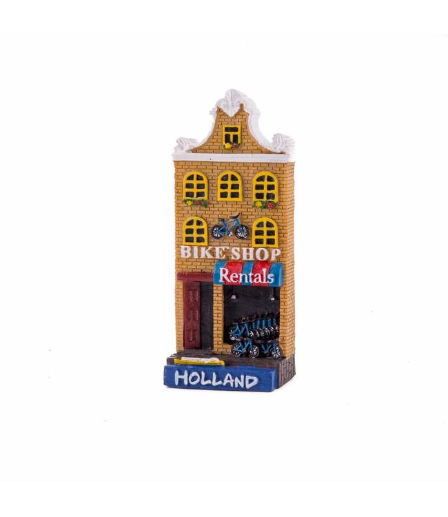 12 stuks magneet polystone huisje Bike shop Hollland