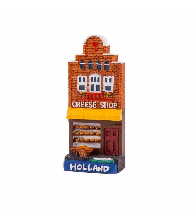 12 stuks magneet polystone huisje Cheese shop Holland