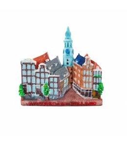 12 stuks Magneet stadstafereel Amsterdam