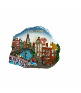 12 stuks Magneet scene stadstafereel Holland