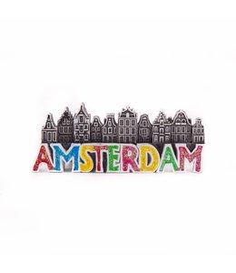 12 stuks magneet polystone Amsterdamse huisjes