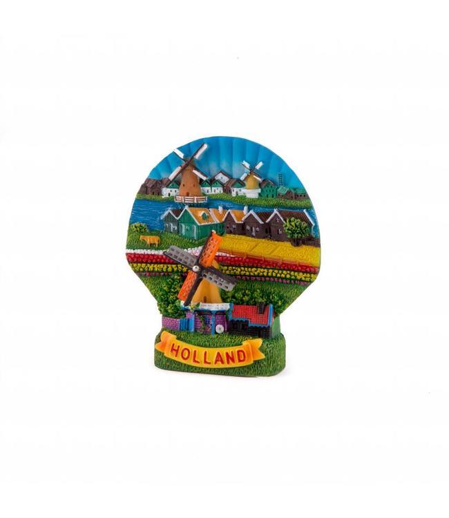 12 stuks magneet polystone schelp Holland