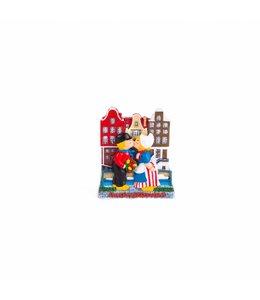 12 stuks Magneet 2D gracht met kussend paar Amsterdam