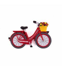 12 stuks magneet polystone fiets rood