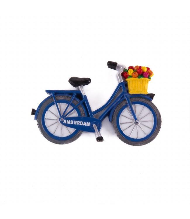 12 stuks  magneet polystone fiets blauw