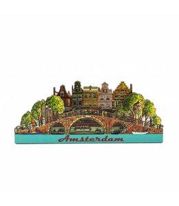 12 stuks Magneet 2D MDF brug Amsterdam