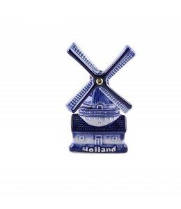 12 stuks Magneet keramiek molen embossed delftsblauw