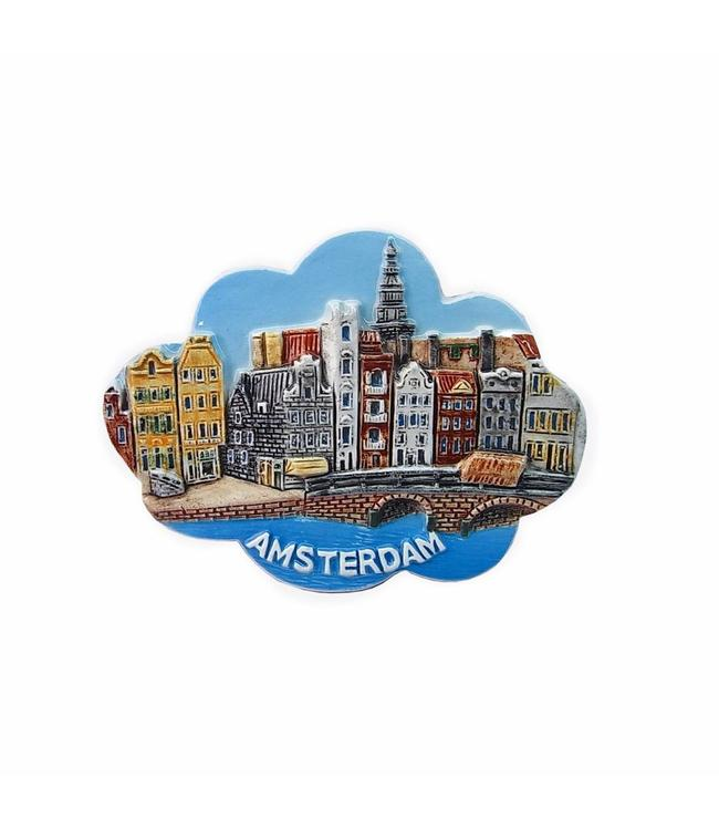 12 stuks Magneet keramiek wolk color Amsterdam