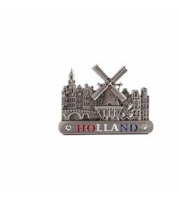 12 stuks Magneet metaal molen tin Holland