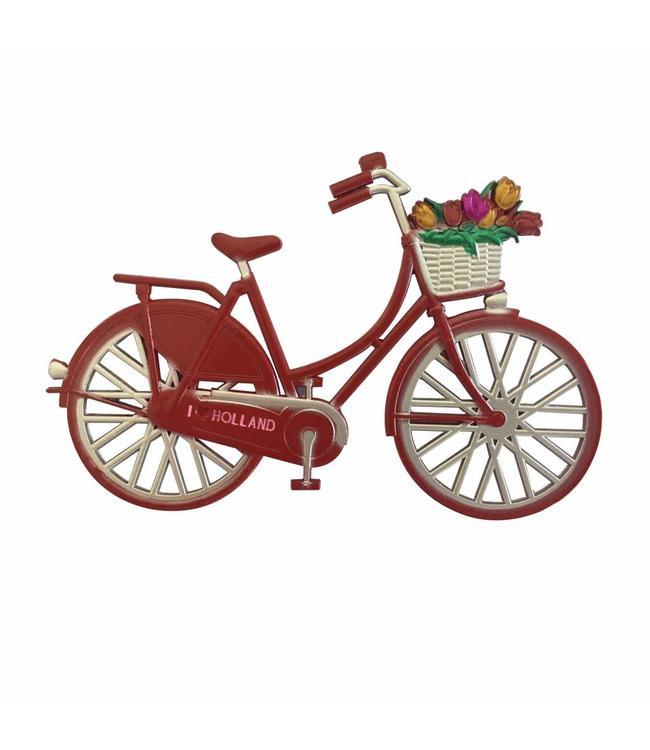 12 stuks magneet metaal fiets rood Holland