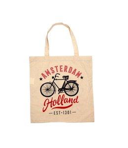 6 stuks tas katoen fiets Amsterdam Holland
