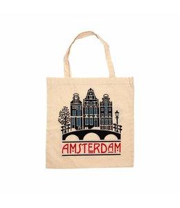 6 stuks tas katoen Amsterdam grachten