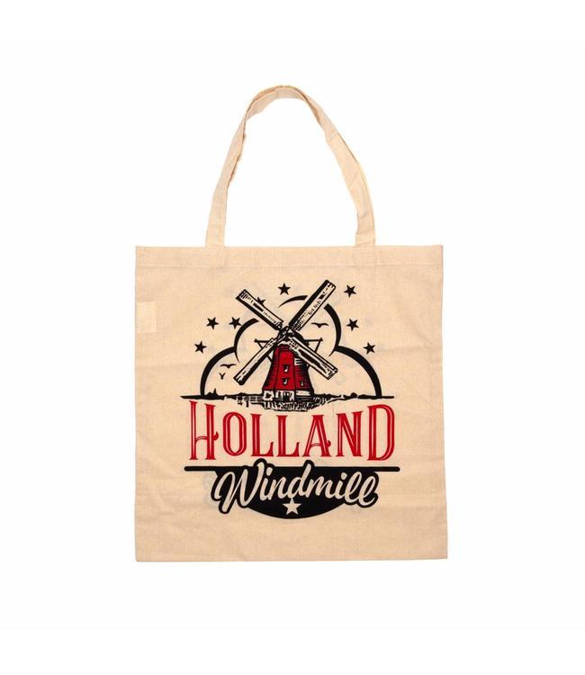 6 stuks tas katoen Holland Molen