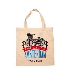 6 stuks tas katoen Amsterdam Bike Capital