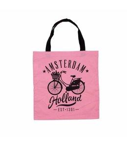 6 stuks tas katoen fiets Amsterdam Holland roze