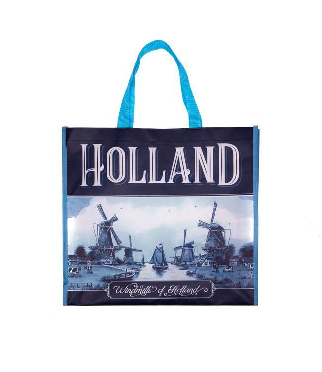 12 stuks Shopper Tas delftsblauw Holland molens