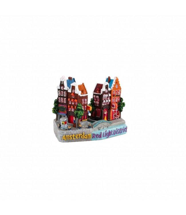 3D stadstafereel Red Light District A'dam 9 cm