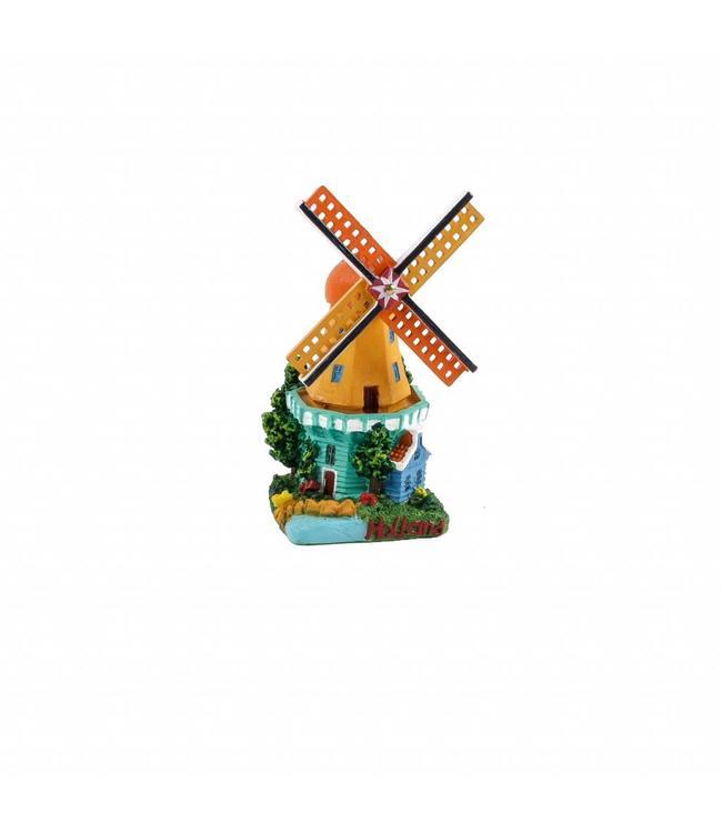3D stellingmolen met huisje 9 cm