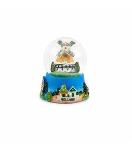 Waterbol molen tulpenveld Holland 10 cm