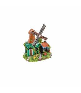6 stuks Miniatuur 3D stellingmolen Holland 5 cm