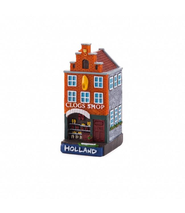 4 stuks polystone huisje Clog shop Holland
