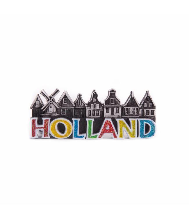 12 stuks magneet polystone Hollandse huisjes
