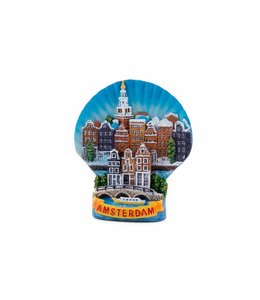 12 stuks magneet polystone schelp Amsterdam