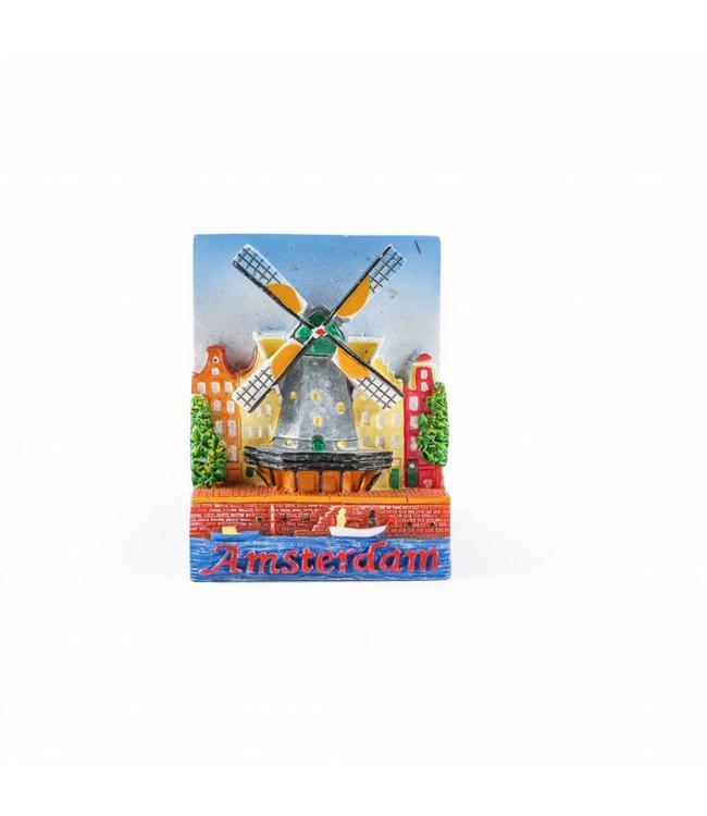 12 stuks Magneet molen Amsterdam