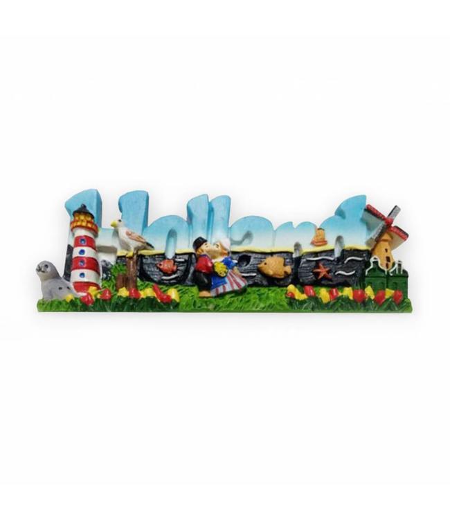 12 stuks Magneet 2d letters Holland
