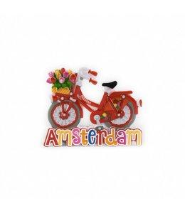 12 stuks magneet polystone fiets rood Amsterdam