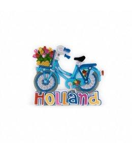 12 stuks magneet polystone fiets blauw Holland